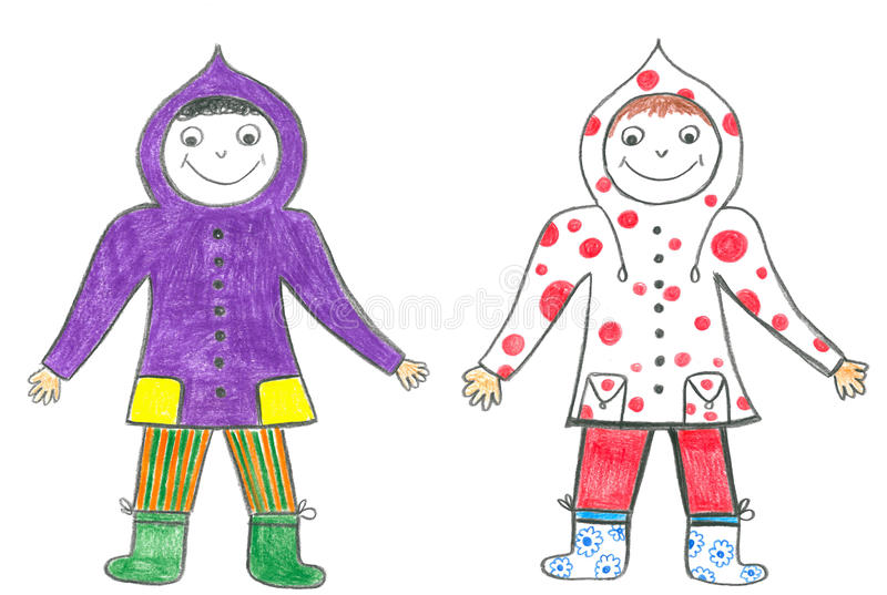 Download Child Friends In Hoods Stock Image - Image: 23715111