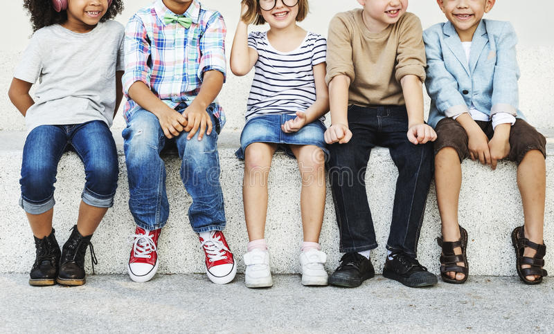 Child Friends Recreation Youth Cute Bonding Concept royalty free stock images