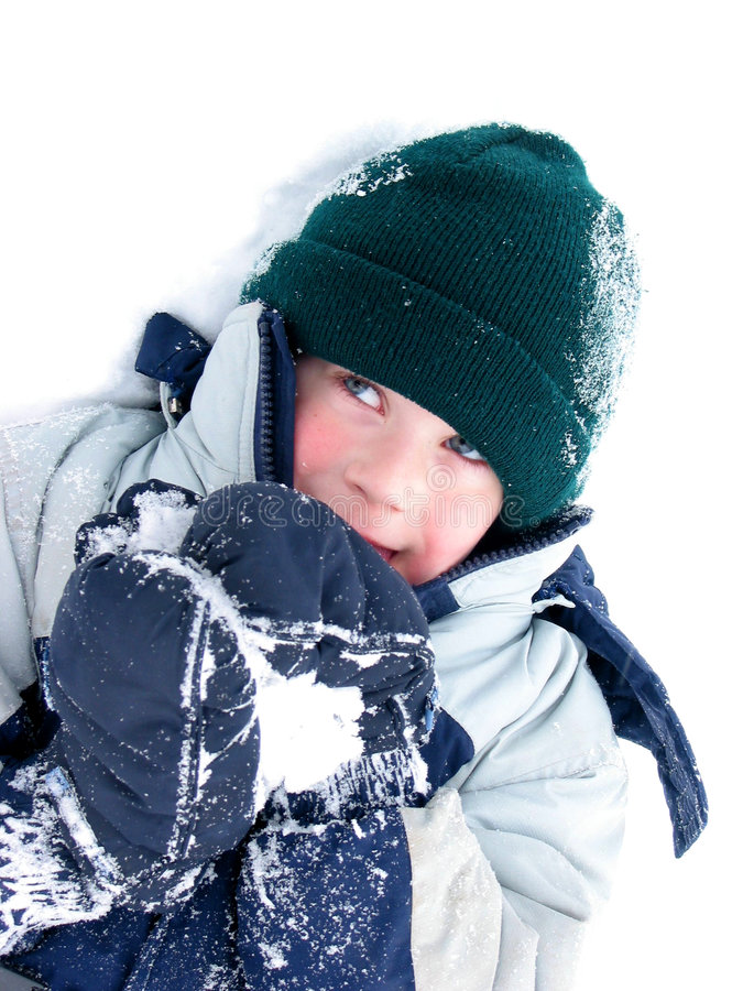 Child fun winter stock photos