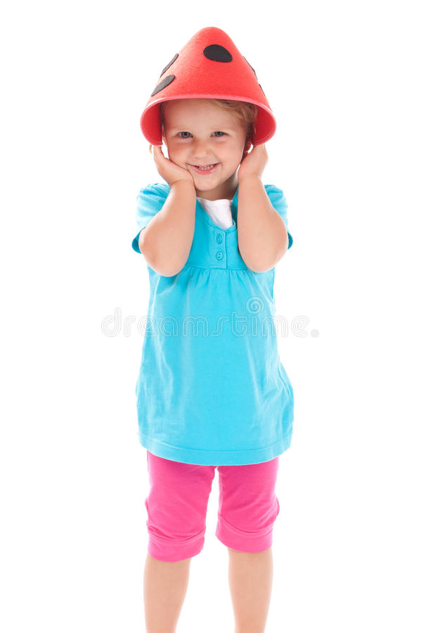 Download Child In A Funny Hat On His Head Stock Images - Image: 21224594
