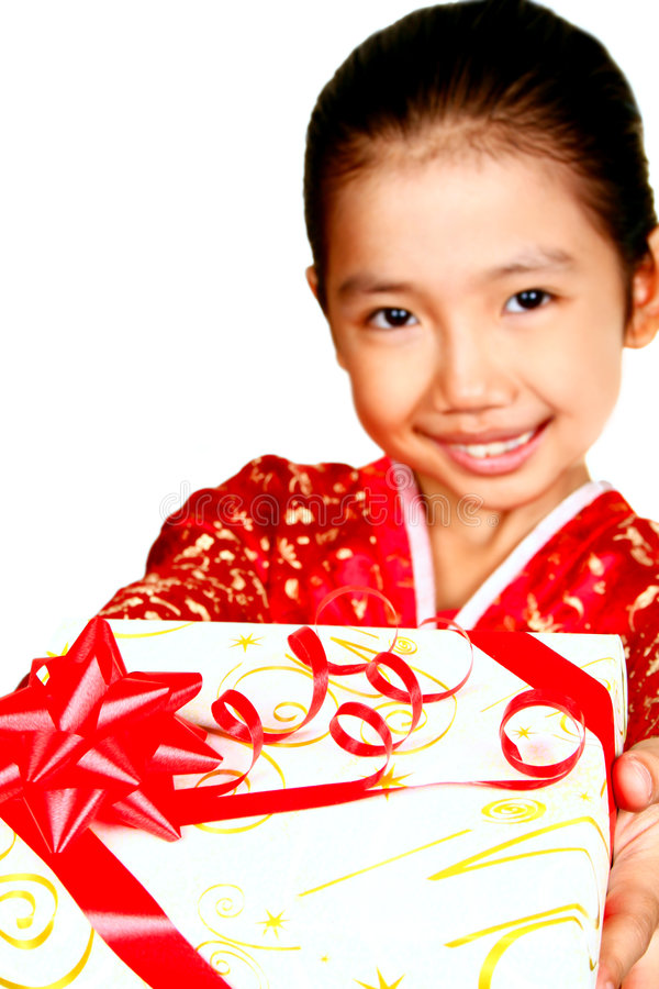 Download Child with gift stock image. Image of girl, ribbon, young - 3714999