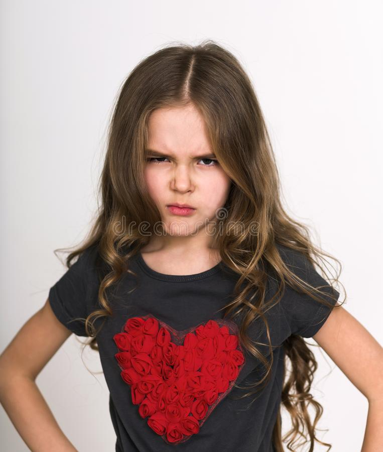 Angry face expression concept royalty free stock photo