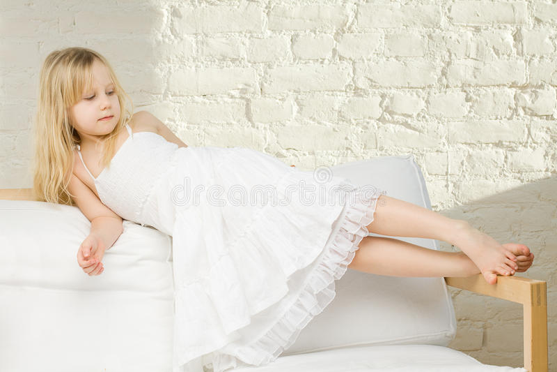 Child Girl Home Stock Photo