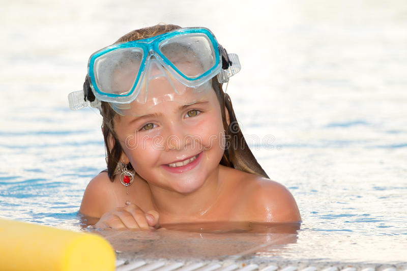 Child girl in sunny days royalty free stock photos