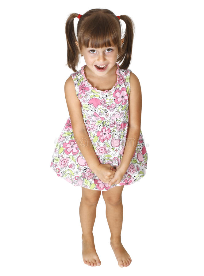 Child girl surprised stock images