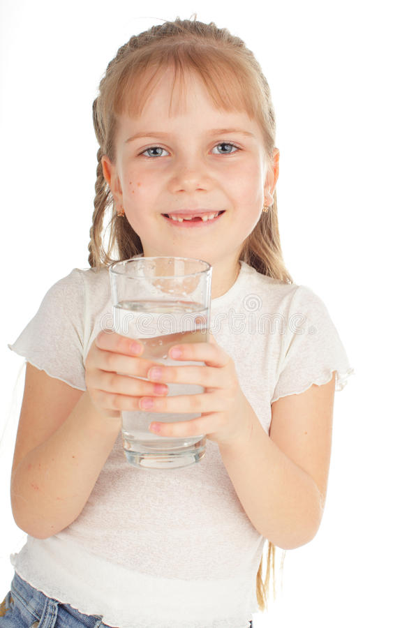 Download Child With A Glass Of Pure Water Stock Image - Image: 18047763