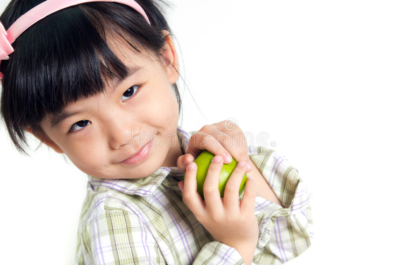 Download Child with green apple stock image. Image of children - 26077295