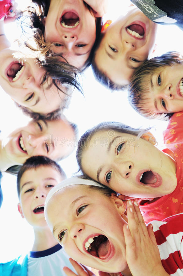 Child group royalty free stock photography
