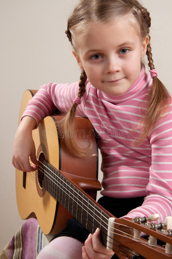 Download Child With Guitar Stock Photo - Image: 19018460