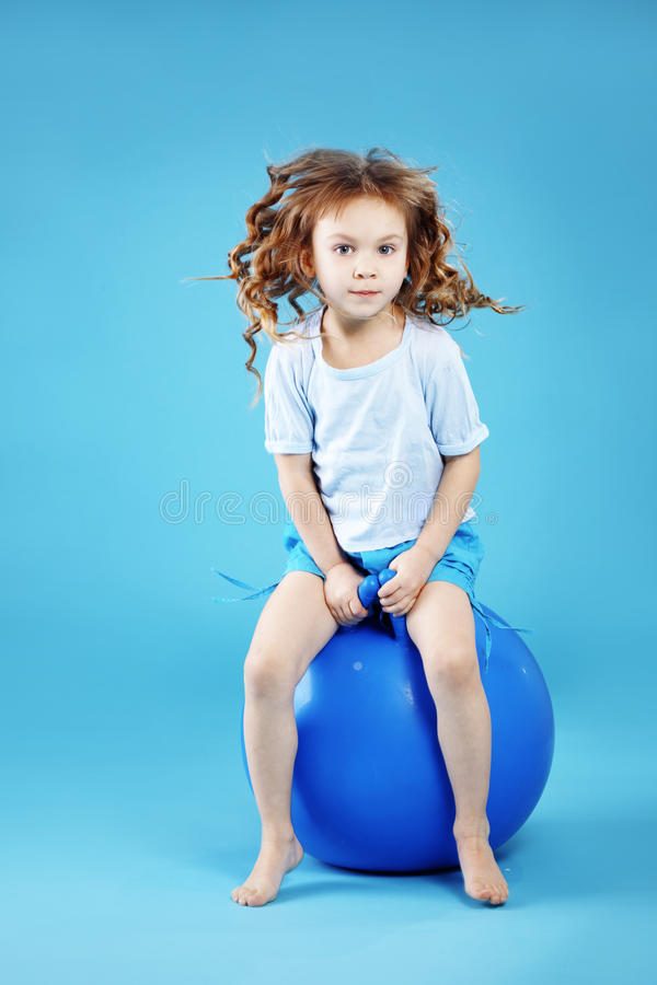 Download Child with gymnastic ball stock image. Image of lifestyle - 19999009