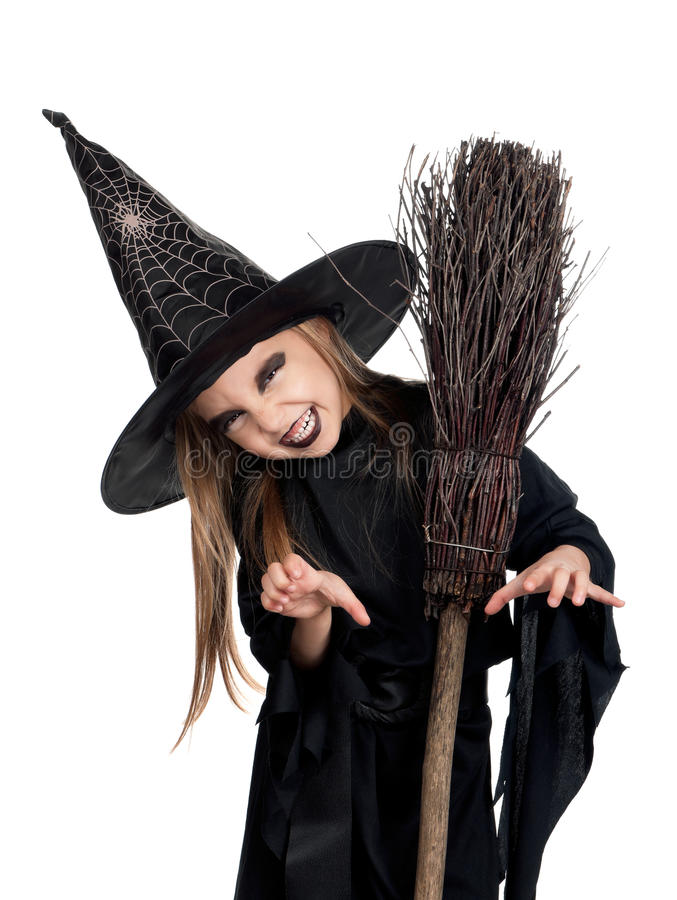 Download Child in halloween costume stock photo. Image of holding - 26034936