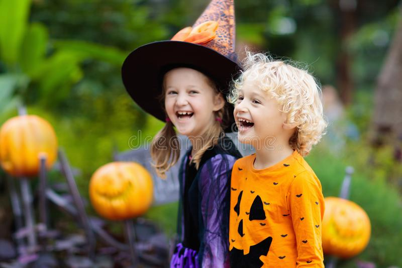 Child in Halloween costume. Kids trick or treat royalty free stock image