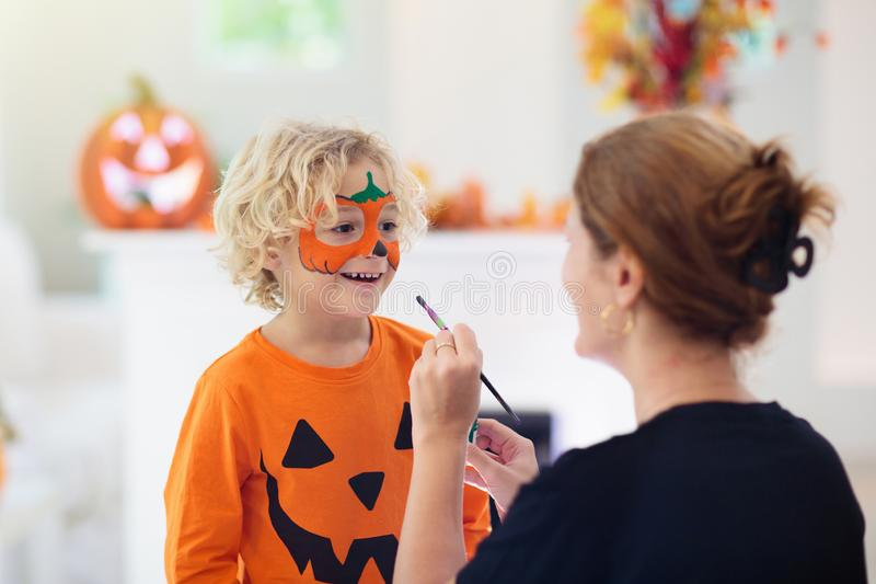 Child in Halloween costume. Kids trick or treat stock photography