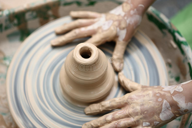 Download Child hand made mud clay stock image. Image of mold, skill - 21759073