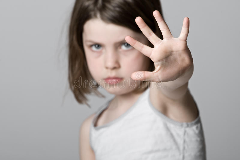 Child with Hand Up stock photography