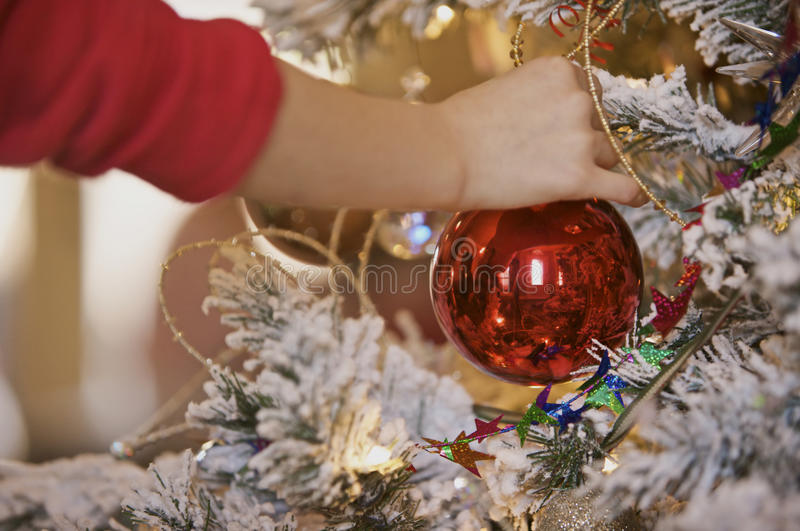 Child Hanging Ornament stock photography