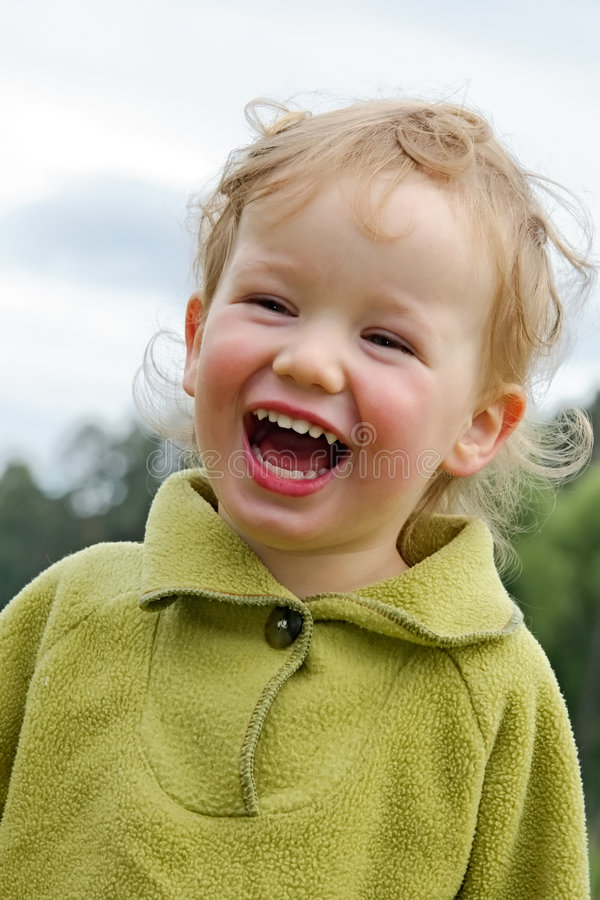 Download Child has fun stock photo. Image of little, laughter, attractive - 967772