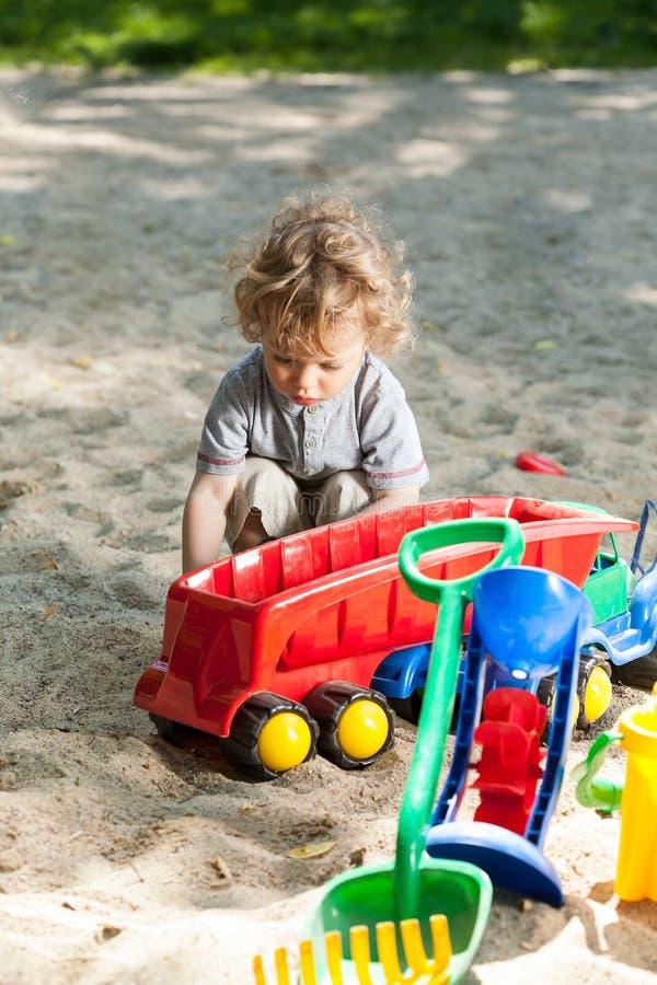 Child having fun on the playground royalty free stock photos