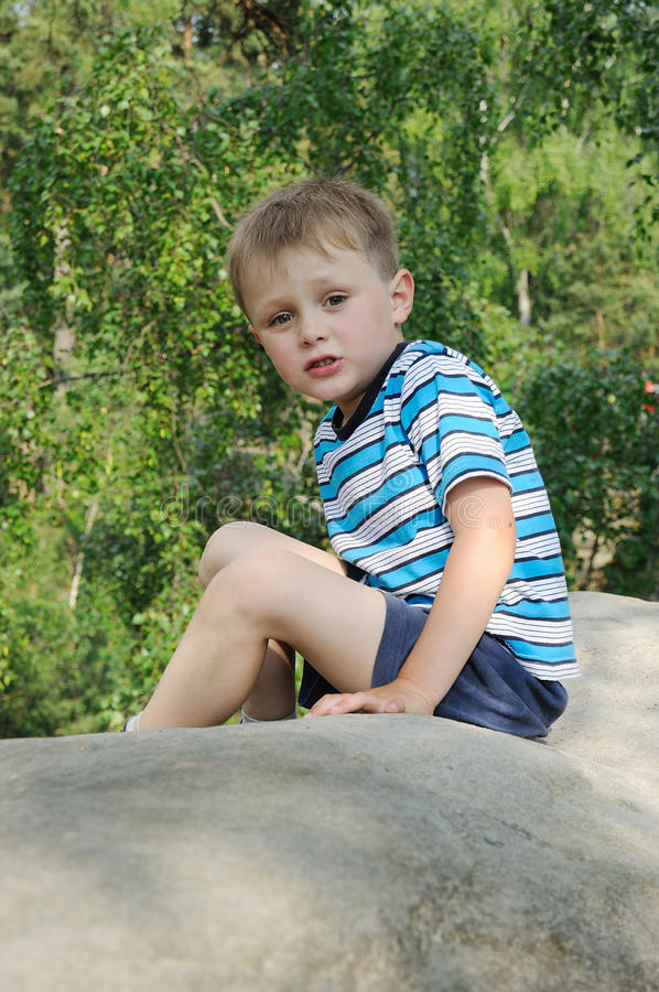 Download Child having rest stock image. Image of relax, outdoors - 19749225
