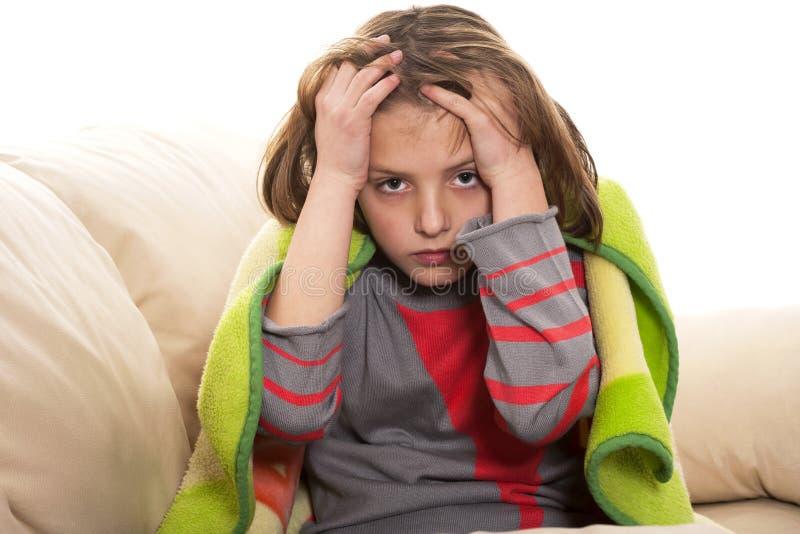 child headache stock photos