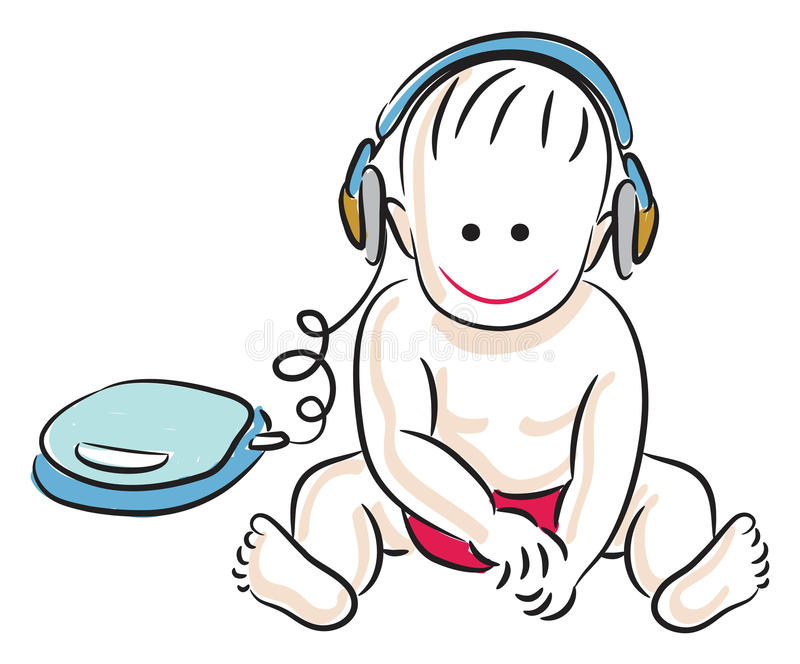 Download Child with headphone stock vector. Illustration of expressing - 15012913