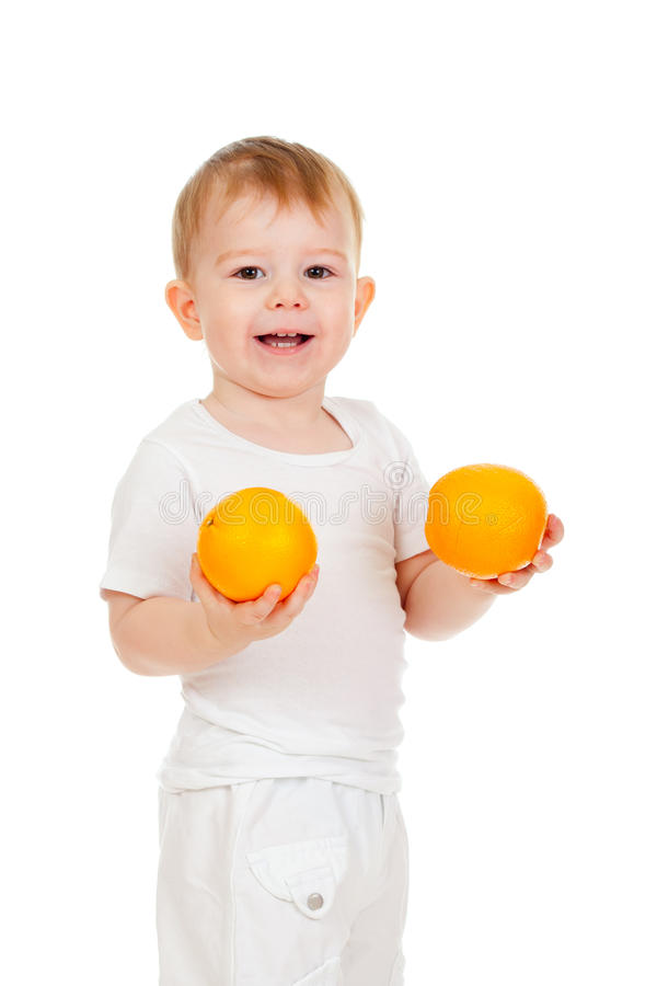 Download Child With Healthy Food Oranges Fruits Stock Photo - Image of beautiful, smiling: 22065706