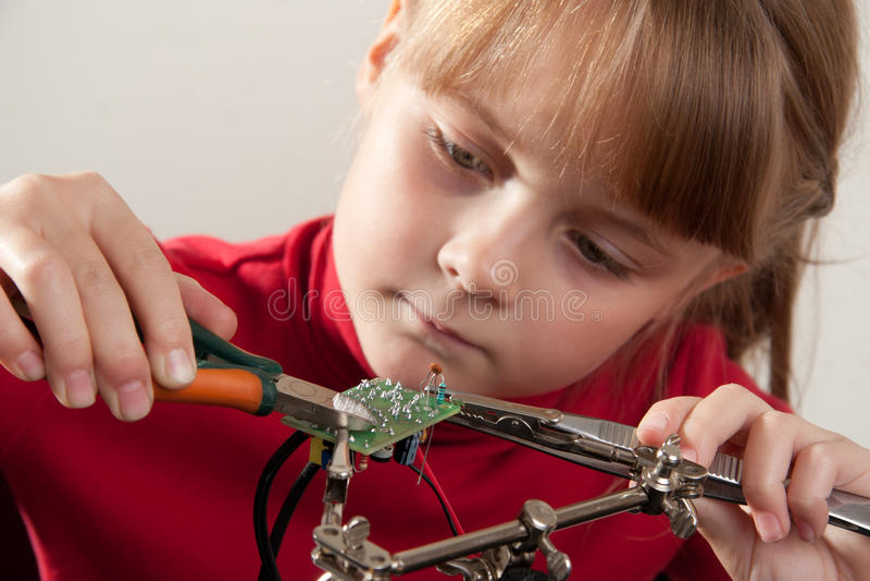 Child hobby royalty free stock image