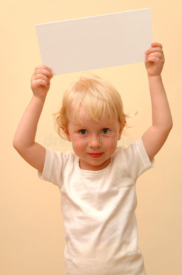 Download Child Holding Blank Placard Stock Photography - Image: 10915062