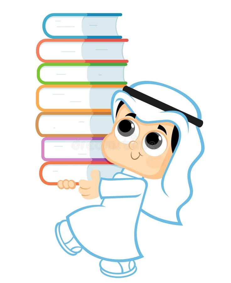Child Holding Books royalty free illustration