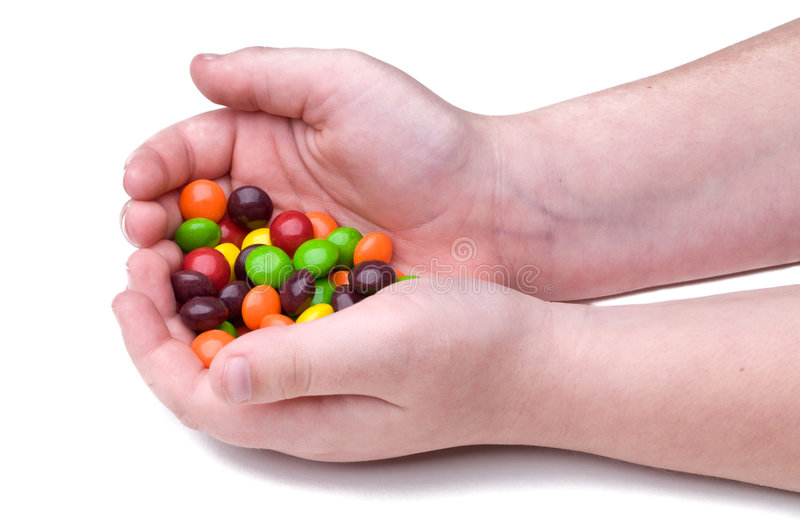 Download Child holding candy stock image. Image of bonbon, finger - 7198017