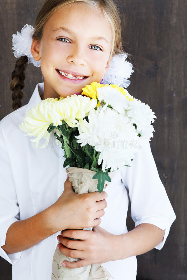 Download Child holding flowers stock photo. Image of girl, closeup - 33503162