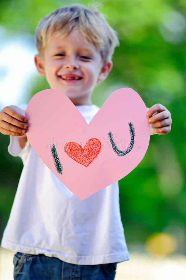 Download Child Holding Heart Stock Photo - Image: 17218470