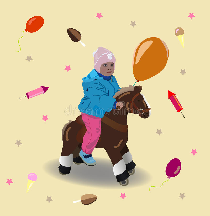 Download Child On A Horse Stock Images - Image: 23813934