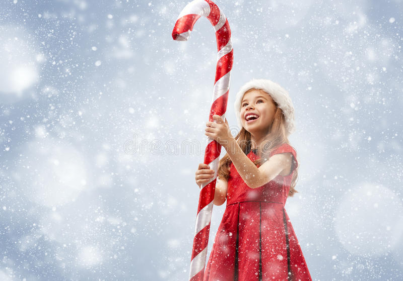 Child with a huge Lollipop stock images