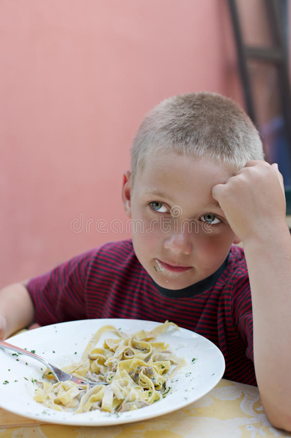 Child hungry stock photography