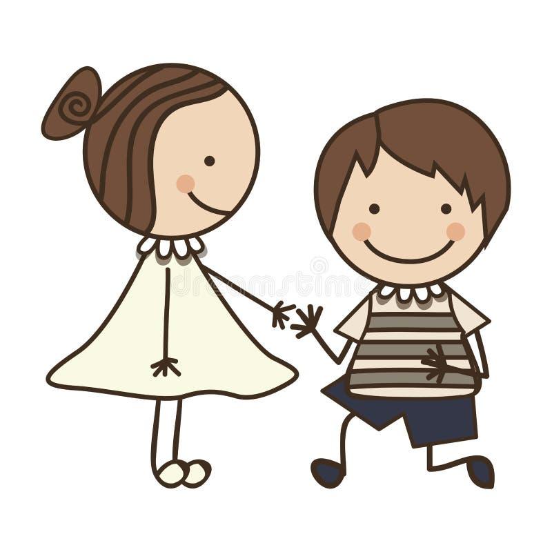 Child icon image. Children boy and girl icon image vector illustration design vector illustration
