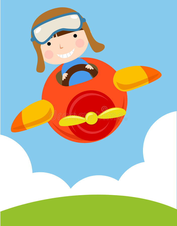Free Child In Plane Royalty Free Stock Image - 13981816