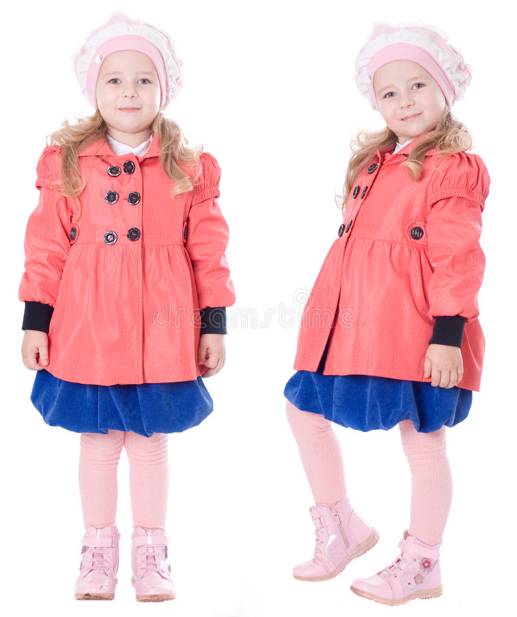 Free Child In Red Coat Royalty Free Stock Image - 21085586