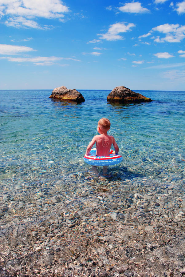 Free Child In The Sea Royalty Free Stock Photography - 20934557