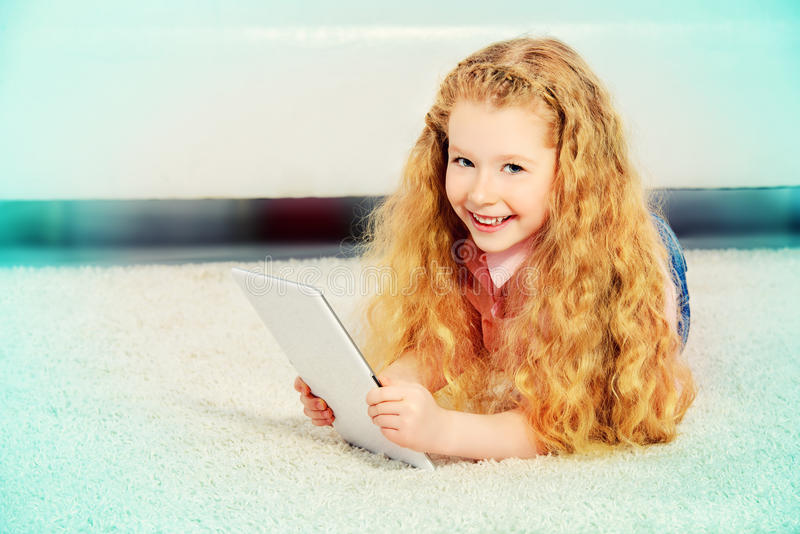 Download Child with ipad stock image. Image of european, digital - 39336681