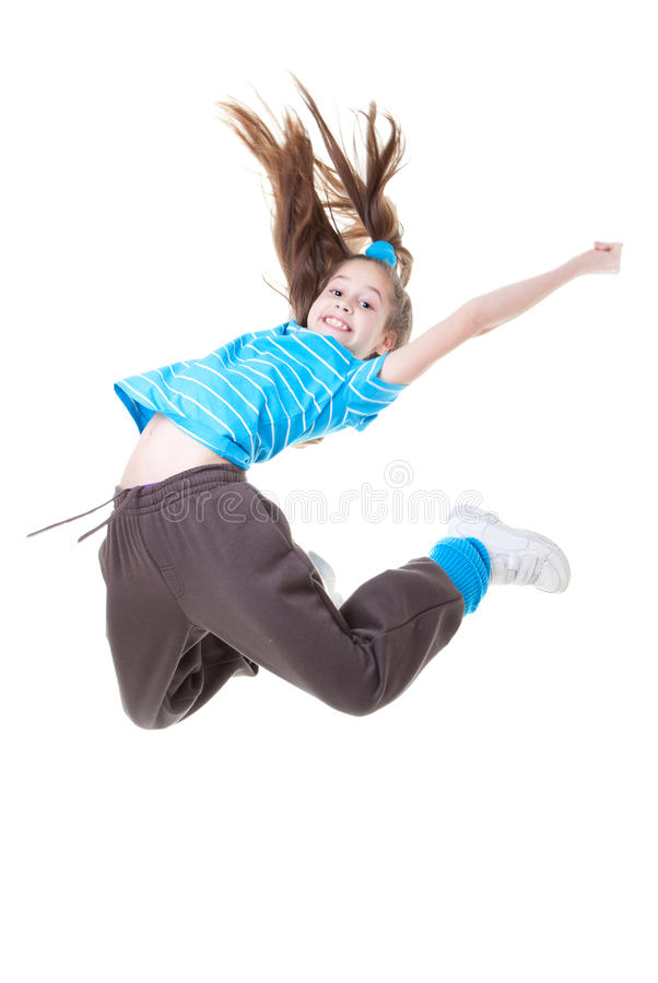 Child or kid jumping. And dance royalty free stock photos