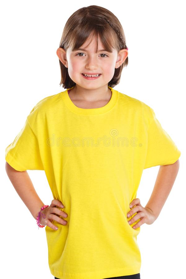 Child kid little girl upper body portrait isolated on white stock photography