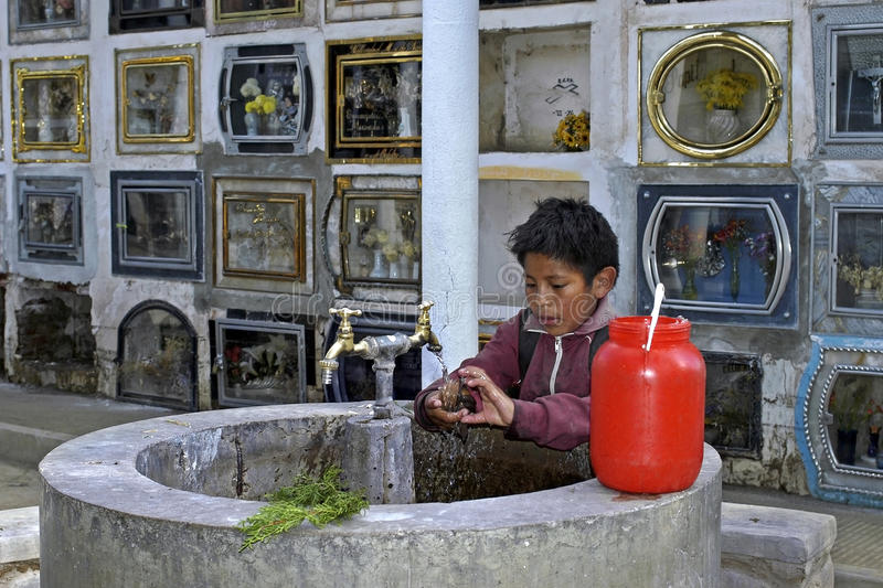 Download Child Labor On Cemetery Of The City Cochabamba Editorial Stock Photo - Image: 36868808