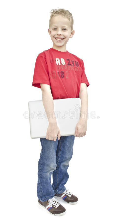 Download Child with laptop stock image. Image of shot, macbook - 25345549