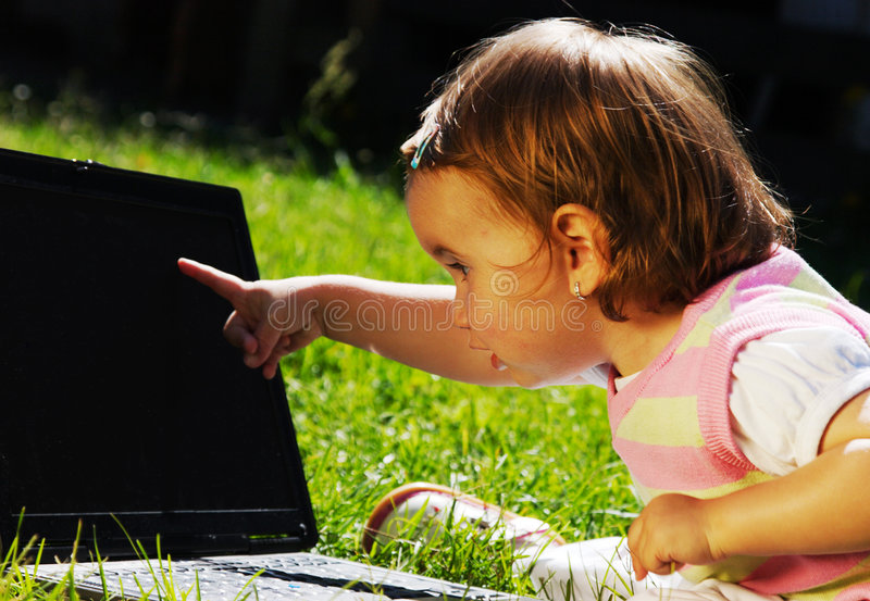 Download Child With Laptop Royalty Free Stock Photos - Image: 7437418