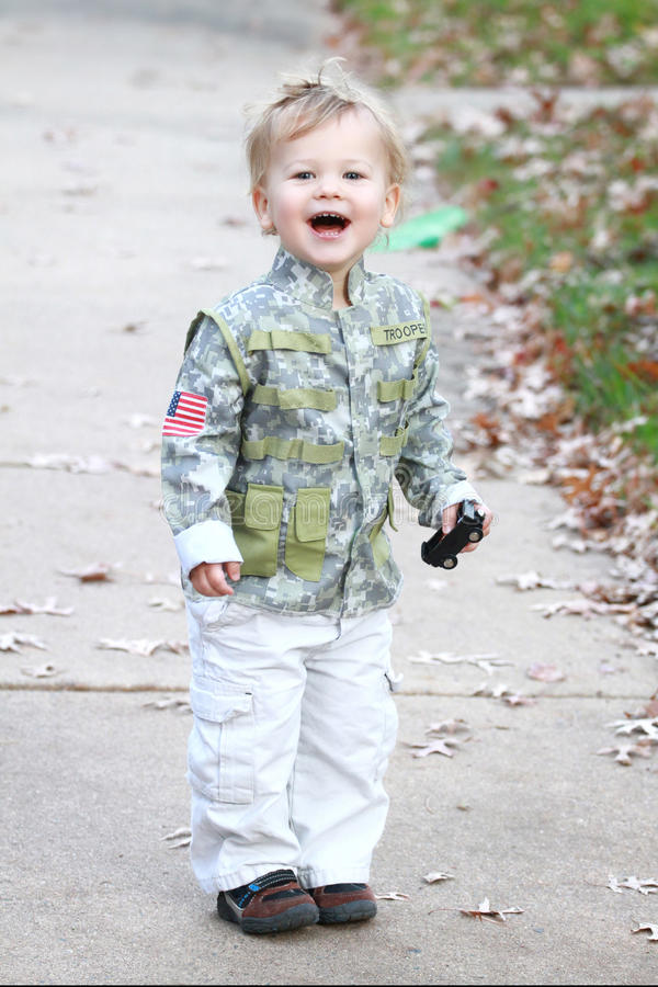 Download Child Laughing stock photo. Image of dress, trooper, jacket - 22984704