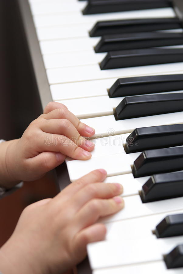 Download Child learn piano stock image. Image of learn, music - 13346165