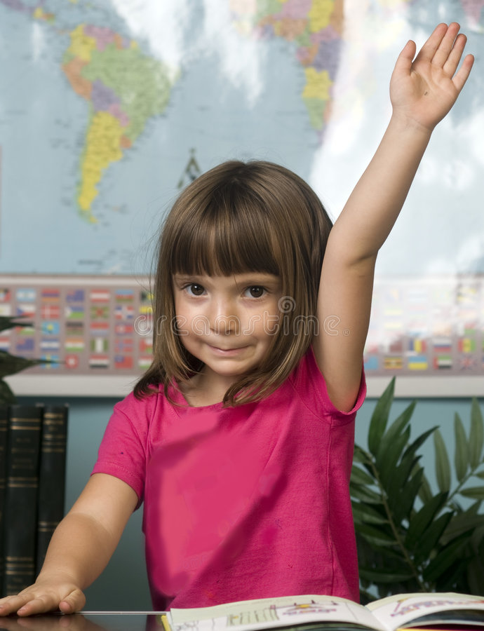 Child learning in classroom royalty free stock photos