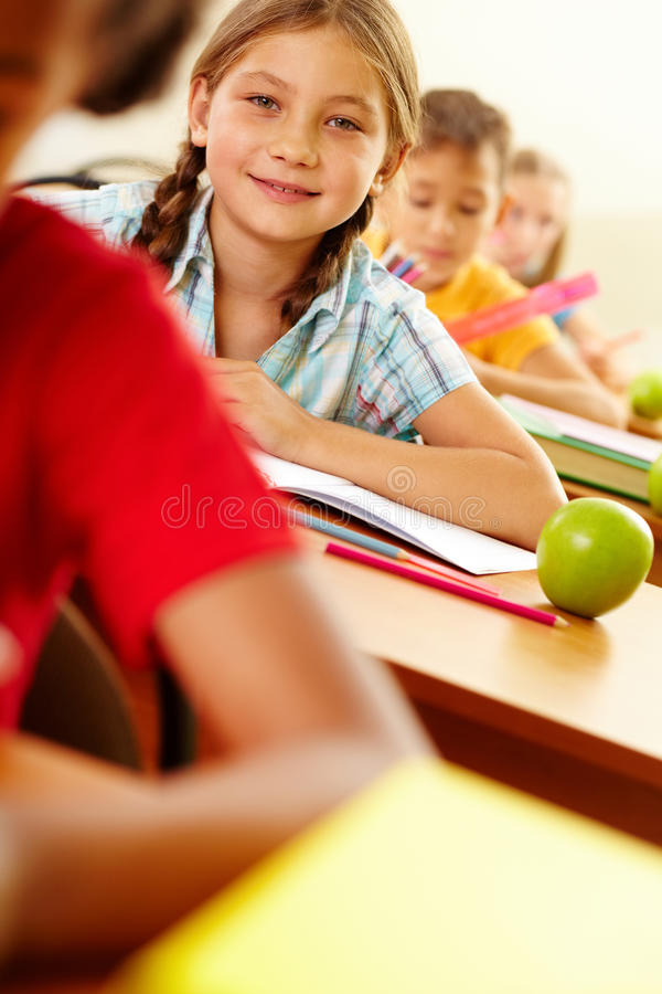 Download Child At Lesson Stock Image - Image: 25444121