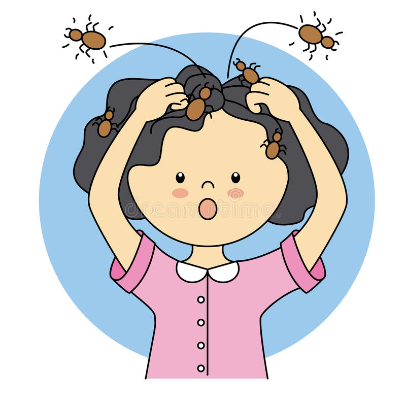 Child with lice royalty free illustration